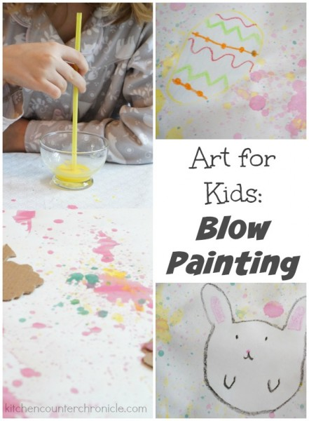 art for kids blow painting