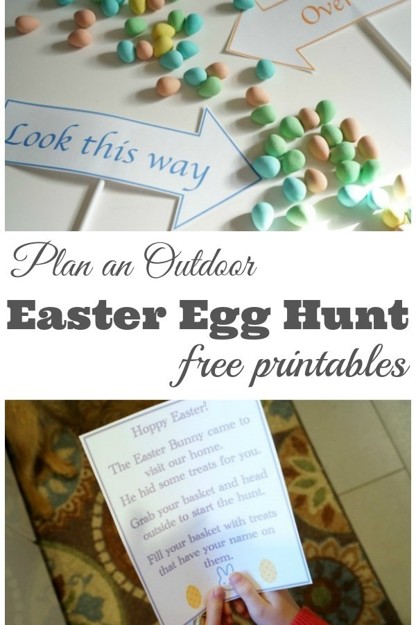 Plan an Outdoor Easter Egg Hunt with Free Printables