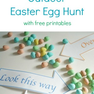 outdoor easter egg hunt with free printables