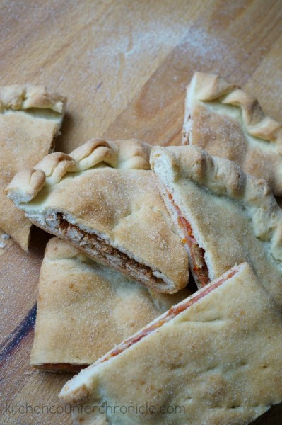 sweet and savoury calzones