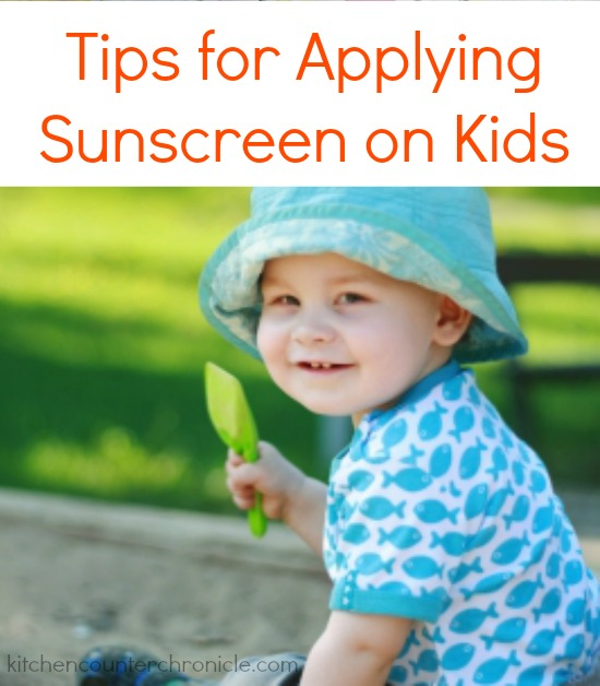 tips for applying sunscreen on kids