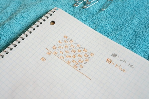 bead pattering on graph paper