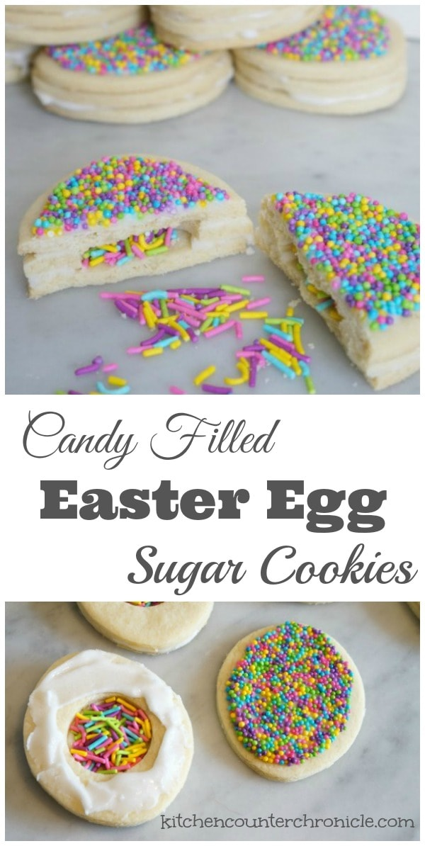 Candy Filled Easter Egg Cookies