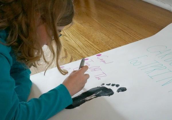 carbon footprint writing