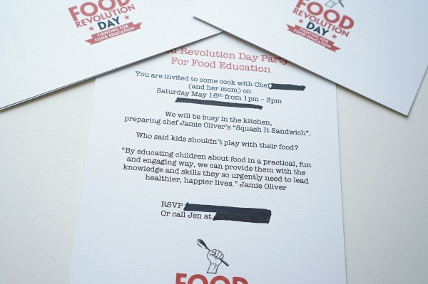 food revolution day party with kids invite