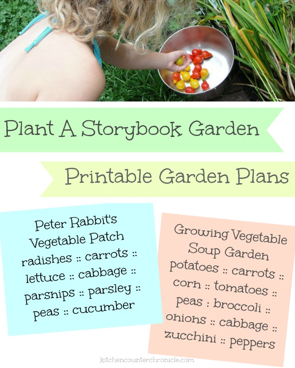 plant a storybook vegetable garden with kids