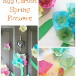 Plastic Egg Carton Flowers for Spring