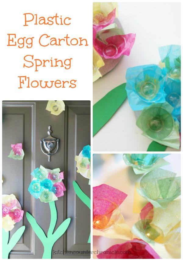 Plastic Egg Carton Flowers for Spring