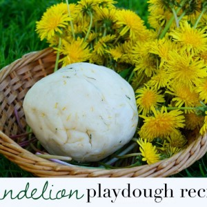 dandelion play dough