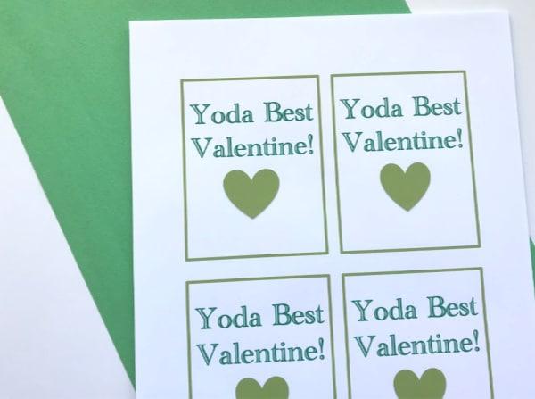 yoda best valentine's card printable
