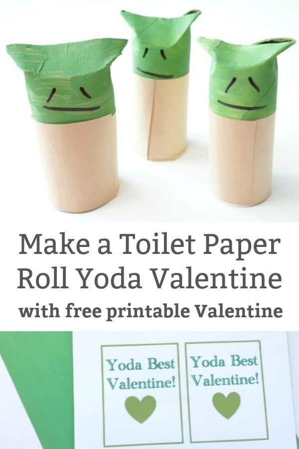 toiet paper roll yoda craft printable yoda best valentine