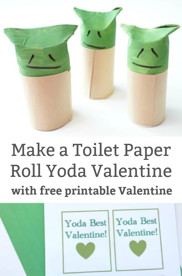 toiet paper roll yoda craft printable yoda best valentine
