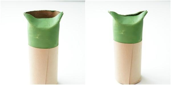 toilet paper roll yoda folded