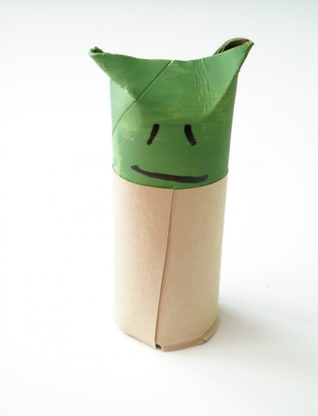 toilet paper roll yoda face