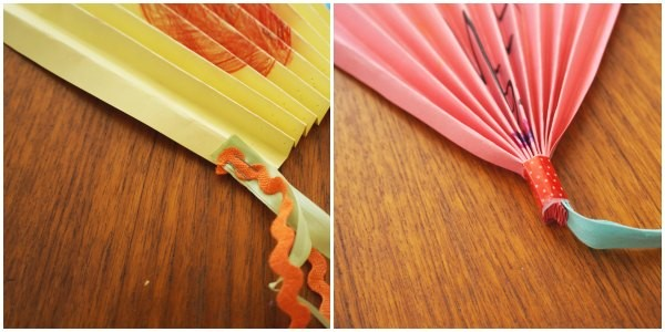 teacher gift fan folding