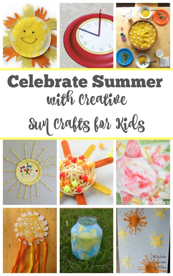 Celebrate summer with creative sun crafts for kids - So many sun crafts that kids of all ages will have fun making. | Summer Crafts for Kids | Sun Crafts for Kids | Summer Solstice Crafts | Kid Crafts |