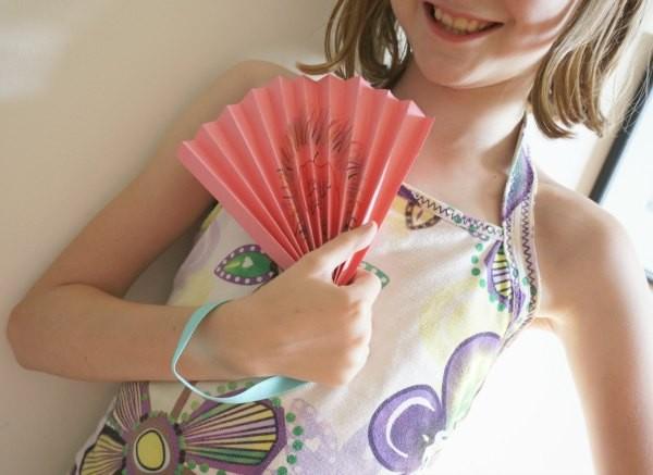 teacher gift fan in hand