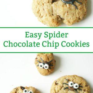easy spider cookies halloween cookies