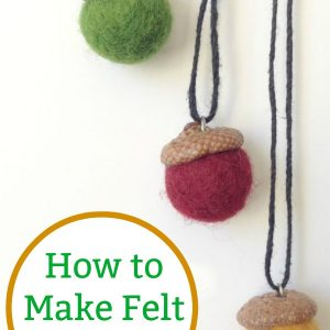 how to make felt acorn