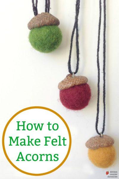 how to make felt acorn
