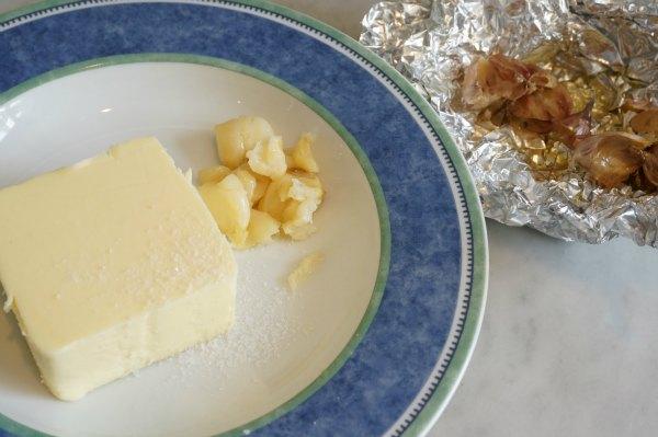 roasted garlic butter