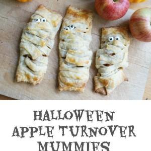 halloween apple turnover mummies