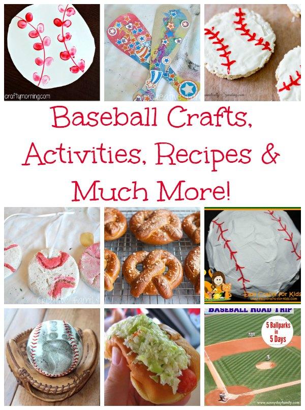 baseball crafts activities recipes