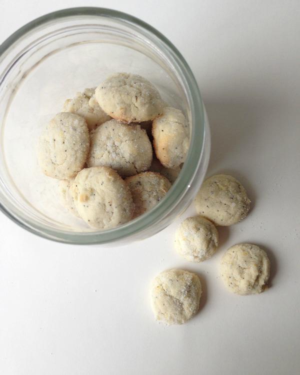 lemon poppy seed cookies in jar