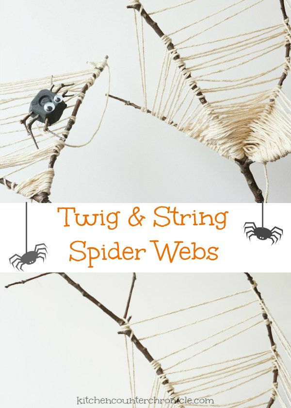 twig and string spider web craft