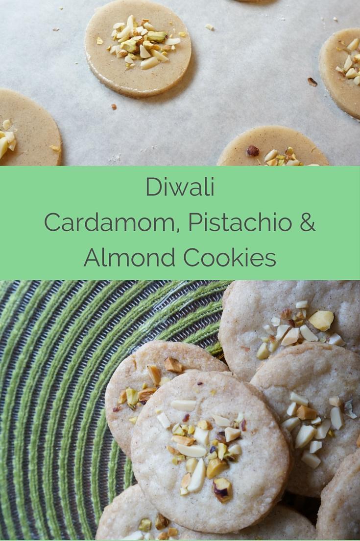 Diwali Cardamom Pistachio Almond Cookies