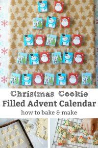 Christmas cookie advent calendar
