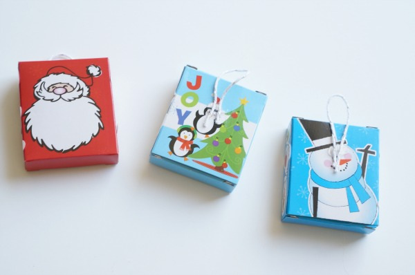 christmas cookie advent calendar strings on boxes