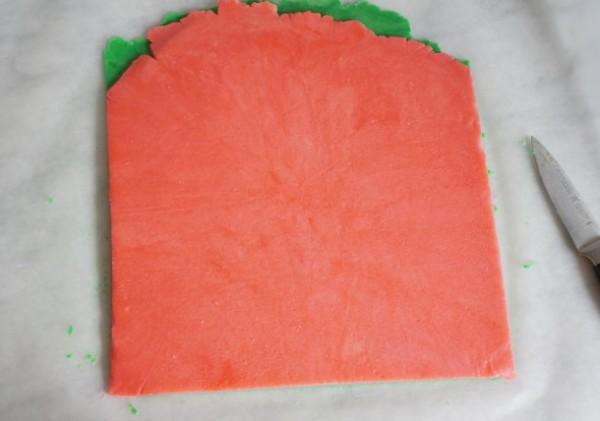 christmas pinwheel cookies trimmed