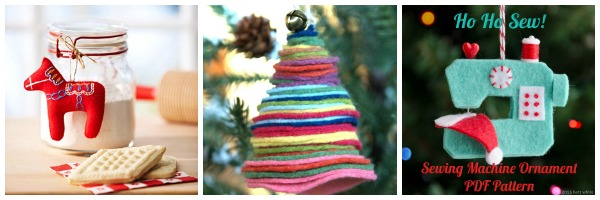 felt christmas ornaments felt stacked christmas tree