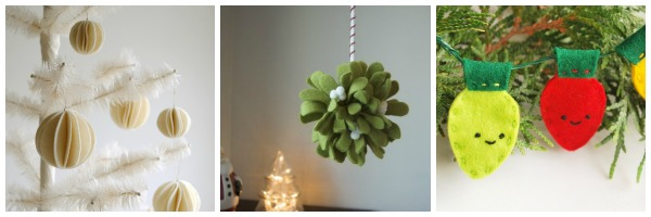 felt christmas ornaments felt mistletoe