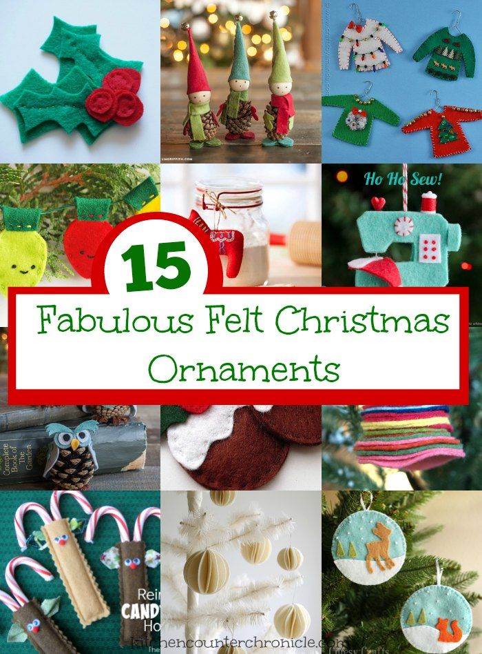 fabulous felt christmas ornaments pin