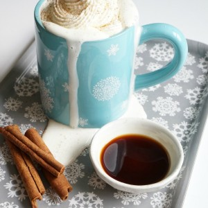 vanilla steamed milk with whipped cream