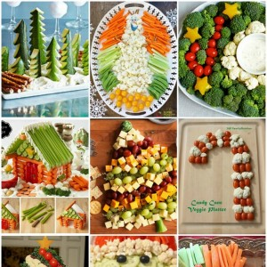 10 Christmas vegetable platters