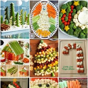 10 Christmas vegetable platters