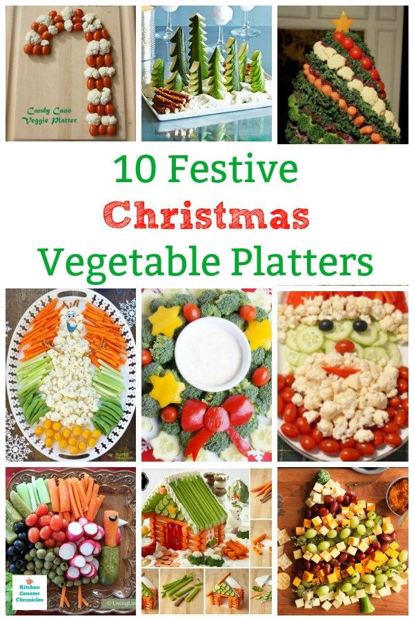 10 festive christmas vegetable platters