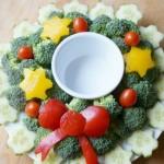 christmas wreath vegetable platter
