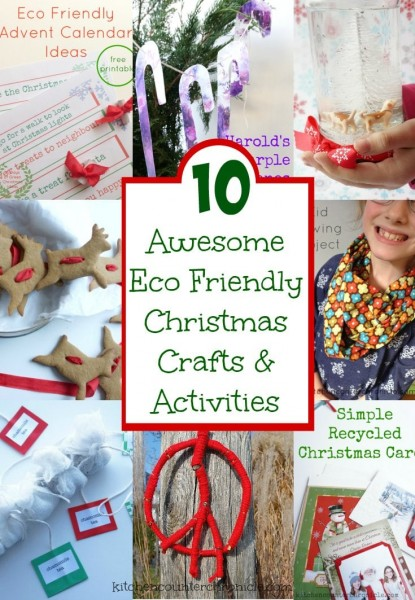eco friendly christmas crafts for kids to make
