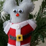Kid Made Felt Mouse Ornament