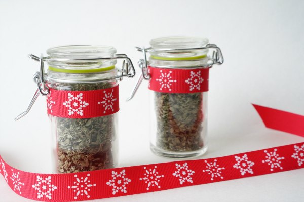 bottles of dried thyme