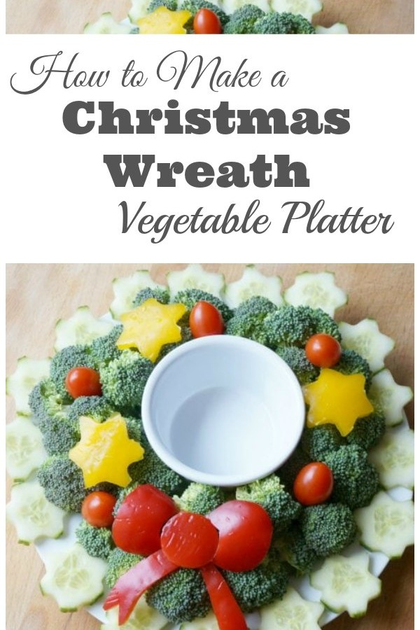 How to Make a Christmas Wreath Vegetable Platter