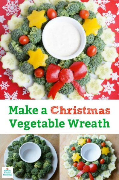 christmas vegetable wreath