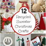 Recycled Sweater Crafts for Christmas