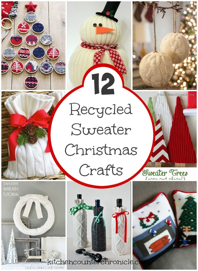 Beautiful Recycled Sweater Crafts for Christmas