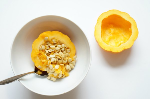 diy bird feeder pumpkin with seeds