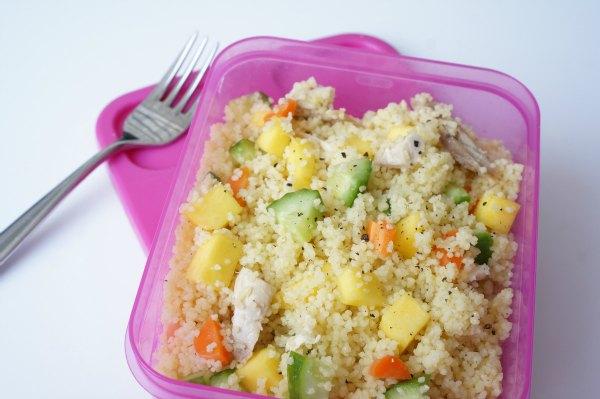 mango chicken couscous salad